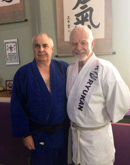 Sensei Ron Beer and Hanshi Patrick McCarthy