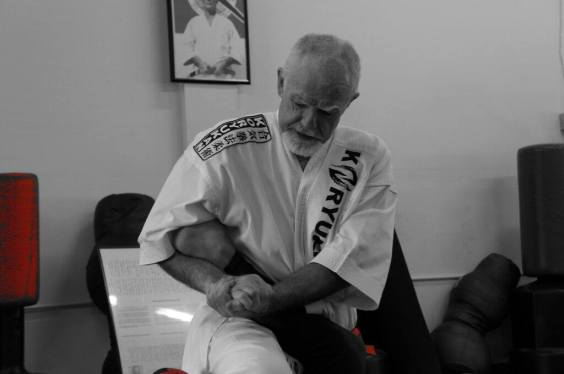 Sensei McCarthy Applies Ankle Lock