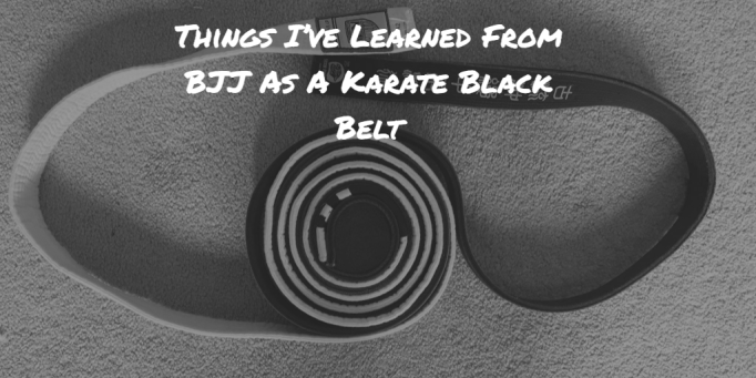 Bjj white belt, Karate black belt